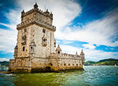 Belem Tower and Tagus river — Stock Photo