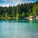 Fusine lower lake hut — Stock Photo #58456523