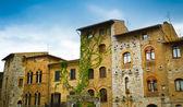 San Gimignano historical buildings — Stockfoto