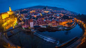 Cesky Krumlov evening panorama — Stock Photo