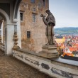 Cesky Krumlov Castle bridge panorama — Stock Photo #60087163