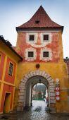 Cesky Krumlov Budejovice gate — Stock Photo