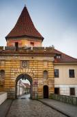 Cesky Krumlov Budejovice gate external — Stock Photo
