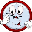 Clock Mascot Adjusting the Time — Stok fotoğraf #58947343