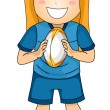 Girl in Rugby Gear — Stock Photo #58948115