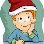 Boy Writing a Christmas List — Stock Photo #58949021