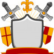 Medieval Shield Banner — Stock Photo #58949355