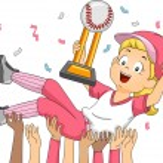 Female Baseball Champion — Stock Photo #58949505