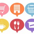 Businesses and Shopping Icons — Stock Photo #58949875