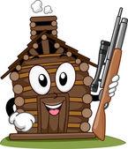 Hunting Cabin Mascot — Stockfoto