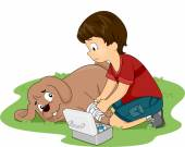 Dog First Aid — Stock Photo