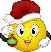 Christmas Santa Smiley — Stock Photo