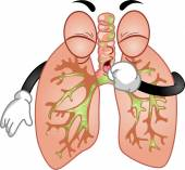 Coughing Lungs Mascot — Stock Photo