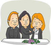 People Weeping at a Funeral Service — Stock Photo