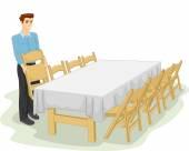Informal Table Setting — Stock Photo