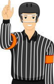 Male Ice Hockey Umpire — Stock Photo
