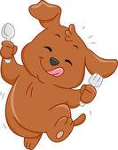 Hungry Dog Mascot — Stock Photo