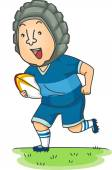 Running Rugby Player — Stock Photo