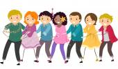 People in a Conga Line — Stock Photo