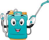 Knapsack Sprayer Mascot — Stock Photo