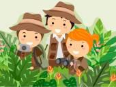 Safari Adventure Kids — Stock Photo