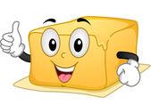 Stick of Butter Mascot — Stock Photo