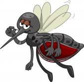 Satisfied Mosquito Mascot — Stock Photo
