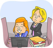 Employee Caught by Boss Playing — Stock Photo