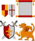 Assorted Medieval Elements — Stock Photo