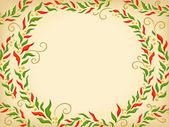 Poinsettia Circle Background — Stock Photo