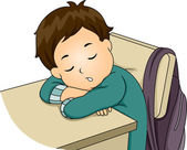 Boy Sleeping in Class — Stock Photo