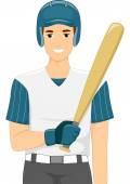 Male Baseball Batter — Stock Photo