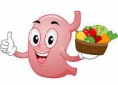 Healthy Stomach Mascot — Stock Photo