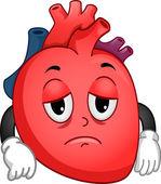 Weak Heart Mascot — Stock Photo