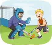 Field Hockey Boys — Stock Photo