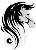 Black Horse Mascot — Stock Photo