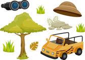 Safari Design Elements — Stock Photo