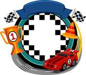 Car Racing Frame — Stock Photo