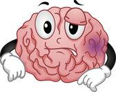 Bruised Brain Mascot — Stock Photo