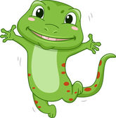 Happy Gecko Mascot — Foto Stock