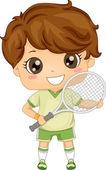 Lawn Tennis Boy — Stock Photo