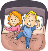 Restless Sleeping Husband — Stock Photo