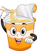Cup Noodles Mascot — Stock Photo