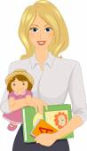Female Daycare Worker — Stock Photo