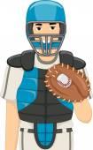 Male Baseball Catcher — Stock Photo
