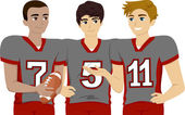 Teens Wearing Football Uniform — Stock Photo