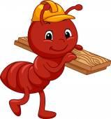 Construction Ant Mascot — Stock Photo