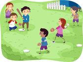Kids Playing Baseball — Stock Photo