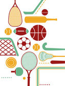 Assorted Sports Equipment — Stock Photo