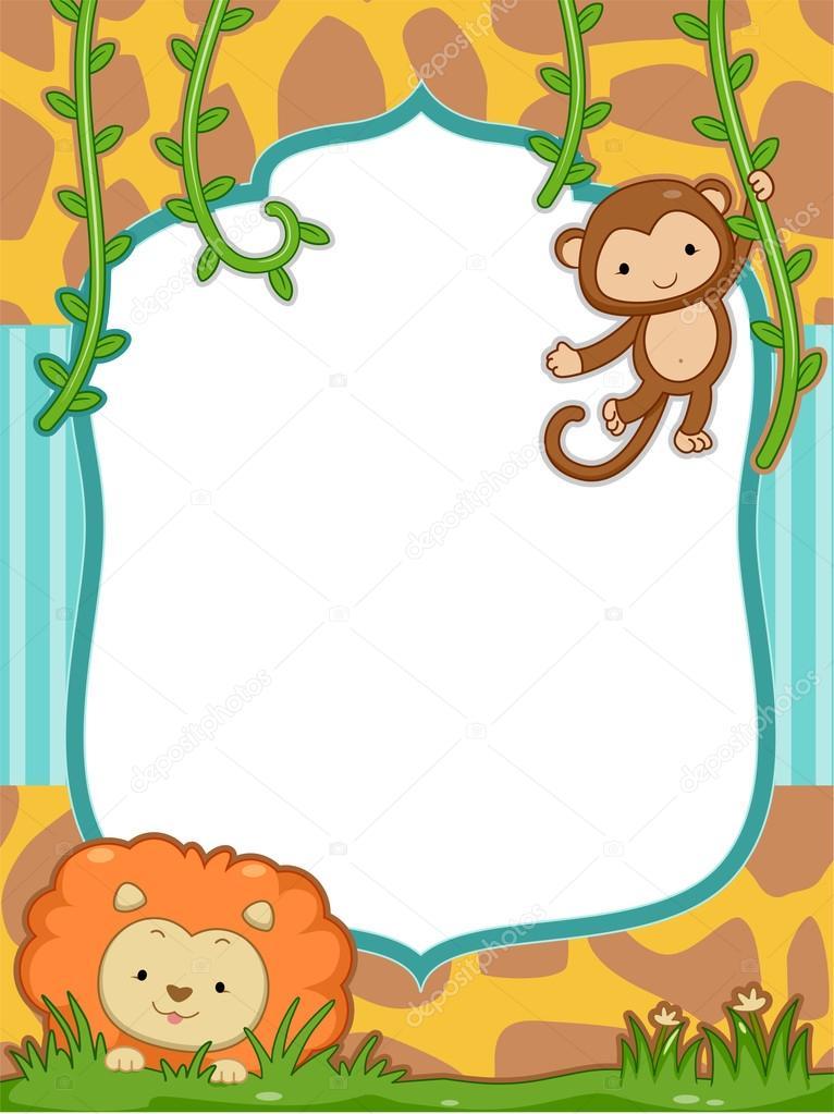 设有一只可爱的狮子和一只猴子的